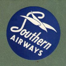 Collectible Airline luggage label Southern airways #249